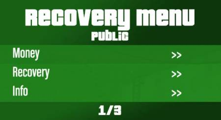 Recovery Menu