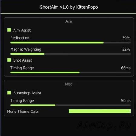 функции GhostAiM
